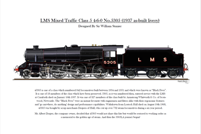 Picture of 5305 Print LMS 1937 as built Livery